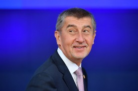 Czech Prime Minister Andrej Babis arrives at the European Council in Brussels on Oct. 18, 2018. (Emmanuel Dunand/AFP/Getty Images)