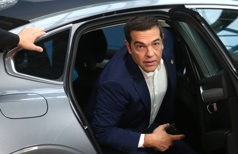 Greek Prime Minister Alexis Tsipras at the European Council in Brussels on Oct. 18. (Francois Walschaerts/AFP/Getty Images)
