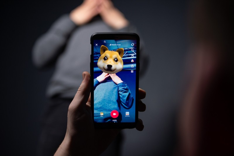 An AFP collaborator uses the Chinese app TikTok on Dec. 14, 2018 in Paris. (-/AFP/Getty Images)