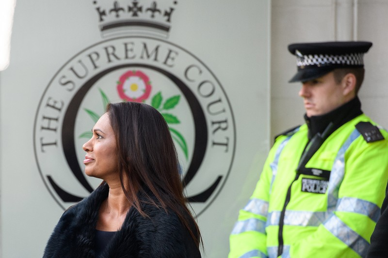 Gina Miller arrives at the Supreme Court in Parliament Square in London on Jan. 24, 2017. (Leon Neal/Getty Images)