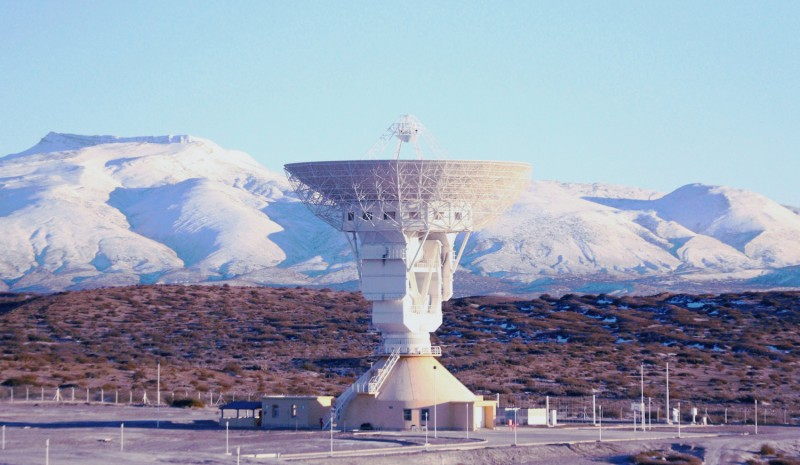 The main antenna of a Chinese deep space ground station in the Neuquén province, Argentina. (Argentina Presidency of the Nation)