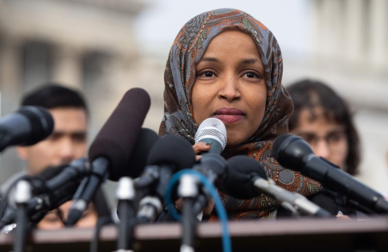 U.S. Rep. Ilhan Omar, speaks in Washington on Feb. 7. (Saul Loeb/AFP/Getty Images)