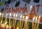 Indian civilians light candles in Kolkata on Feb. 15 as they pay tribute to the Central Reserve Police Force personnel killed on Feb. 14 during an attack on a CRPF convoy in Kashmir.  (Dibyangshu Sarkar/AFP/Getty Images)