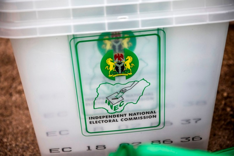 A ballot box is seen at a polling station of Gombi, Adamawa State, Nigeria on Feb. 15, one day ahead of the presidential and parliamentary elections.(Luis Tato/AFP/Getty Images)