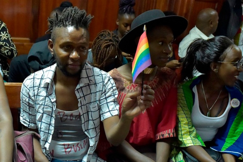 Kenyan LGBT activists attend a court hearing in Nairobi on Feb. 20. (Simon Maina/AFP/Getty Images)