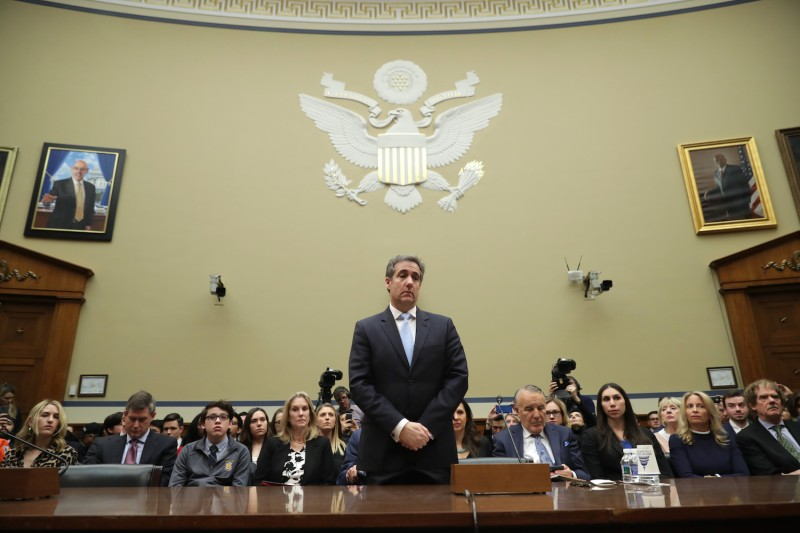 Michael Cohen, a former attorney and fixer for U.S. President Donald Trump, prepares to testify before the House Oversight Committee in Washington on Feb. 27. (Chip Somodevilla/Getty Images)