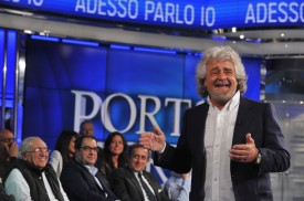 Italy's 5-Star Movement party leader Beppe Grillo on May 19, 2014 in Rome.   (Tiziana Fabi/AFP/Getty Images)