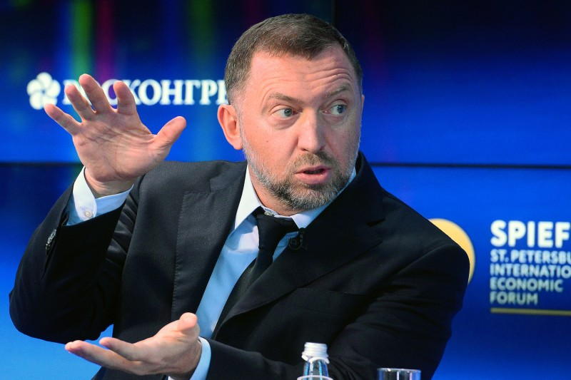 Russian billionaire Oleg Deripaska at the St. Petersburg International Economic Forum on June 1, 2017. (Olga Maltseva/AFP/Getty Images)