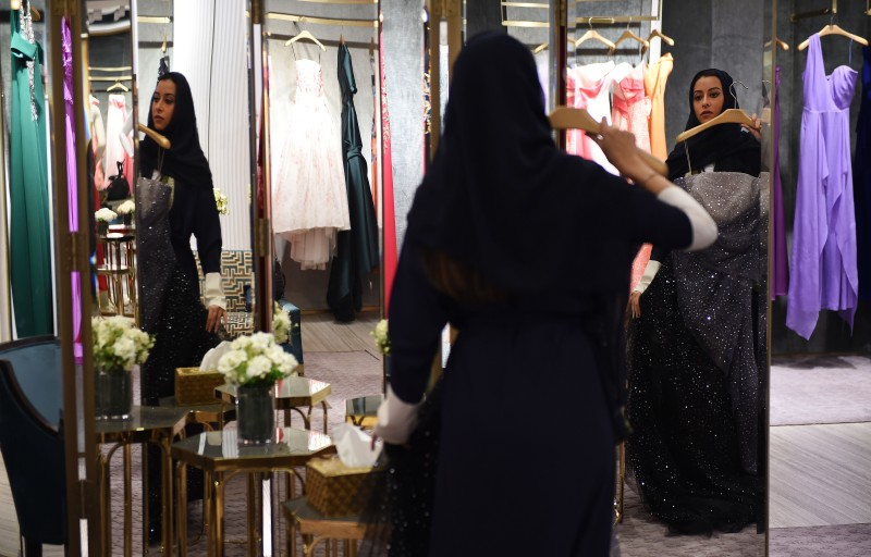 Princess Noura bint Faisal Al Saud shops in Al Faisaliah Mall in the Saudi capital of Riyadh on April 19, 2018. (Fayez Nureldine/AFP/Getty Images)
