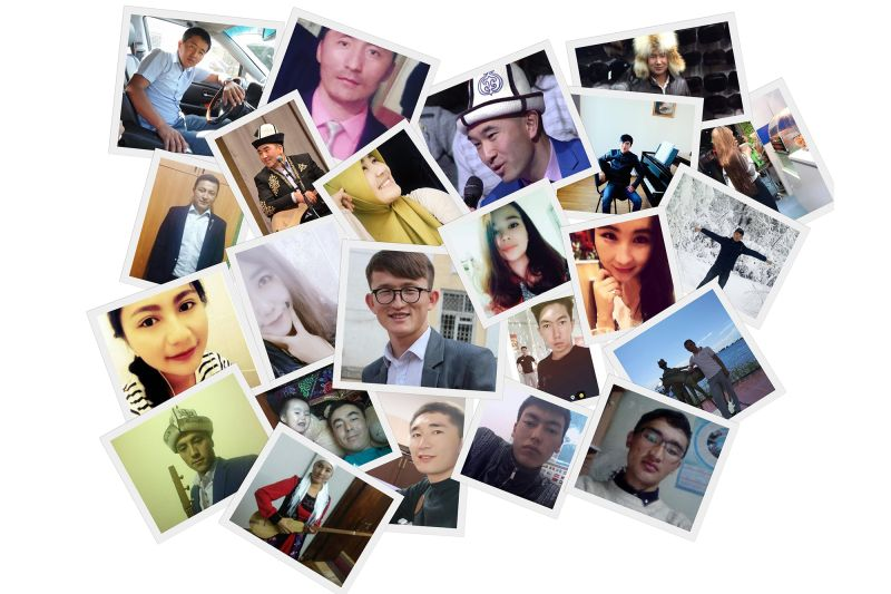 Photos gathered from social media and friends of the ethnic Kyrgyz students gone missing in China.