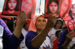 Women march during International Day for the Elimination of Violence Against Women in San Salvador, El Salvador, on Nov. 26, 2018. (Marvin Recinos/AFP/Getty Images)
