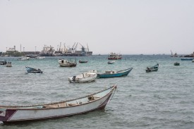 Local fishermen's boats moor at Berbera port, in the breakaway territory of Somaliland, on July 21, 2018. (Mustafa Saeed/AFP/Getty Images)