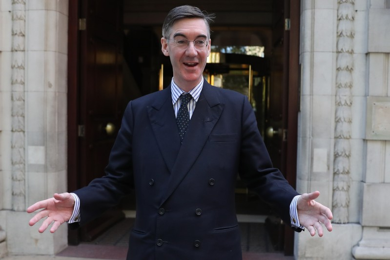 Jacob Rees-Mogg poses for a photograph in central London on Oct. 18, 2018. (Daniel Leal-Olivas/AFP/Getty Images)