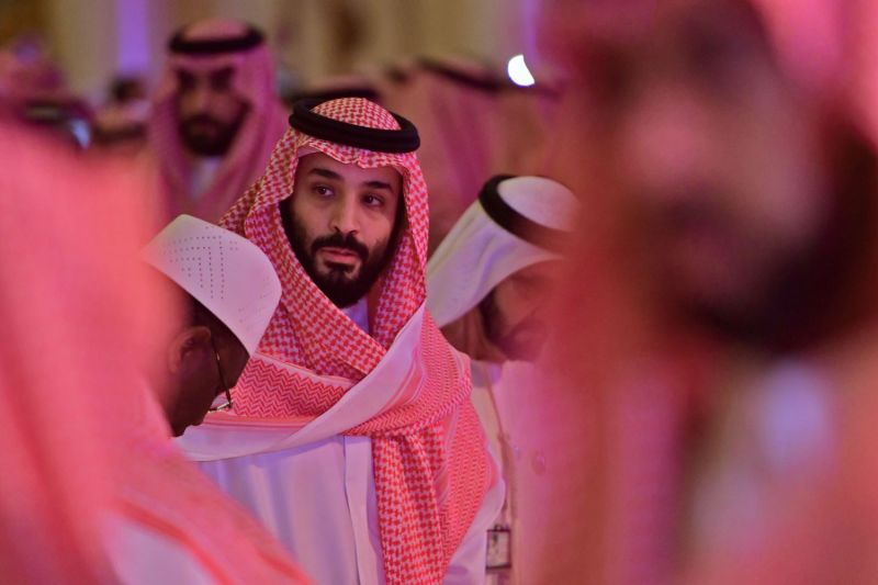 Saudi Crown Prince Mohammed bin Salman arrives at the Future Investment Initiative FII conference in Riyadh on Oct. 24, 2018. (Giuseppe Cacace/AFP/Getty Images)