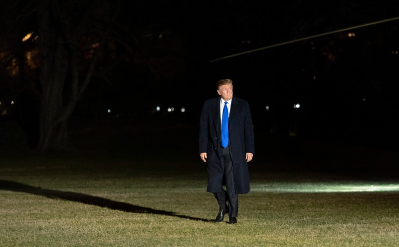 President Donald J. Trump returns to the White House on Feb. 28, 2019 in Washington, DC. (Chris Kleponis/Getty Images)