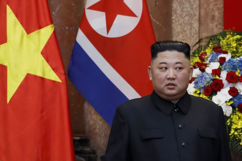 North Korean leader Kim Jong Un is seen at the Presidential Palace in Hanoi on March 1. (Minh Hoang/AFP/Getty Images)