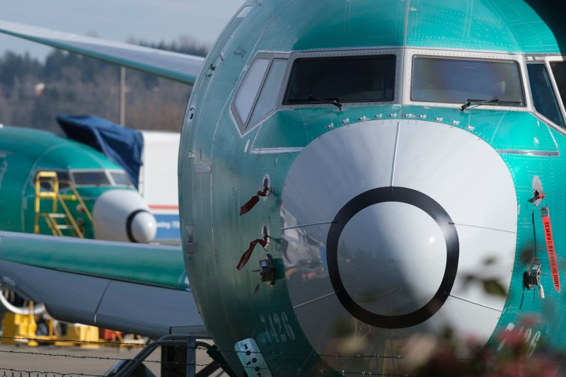 A Boeing 737 MAX 8 is pictured outside the factory on March 11, 2019 in Renton, Washington. (Photo by Stephen Brashear/Getty Images)