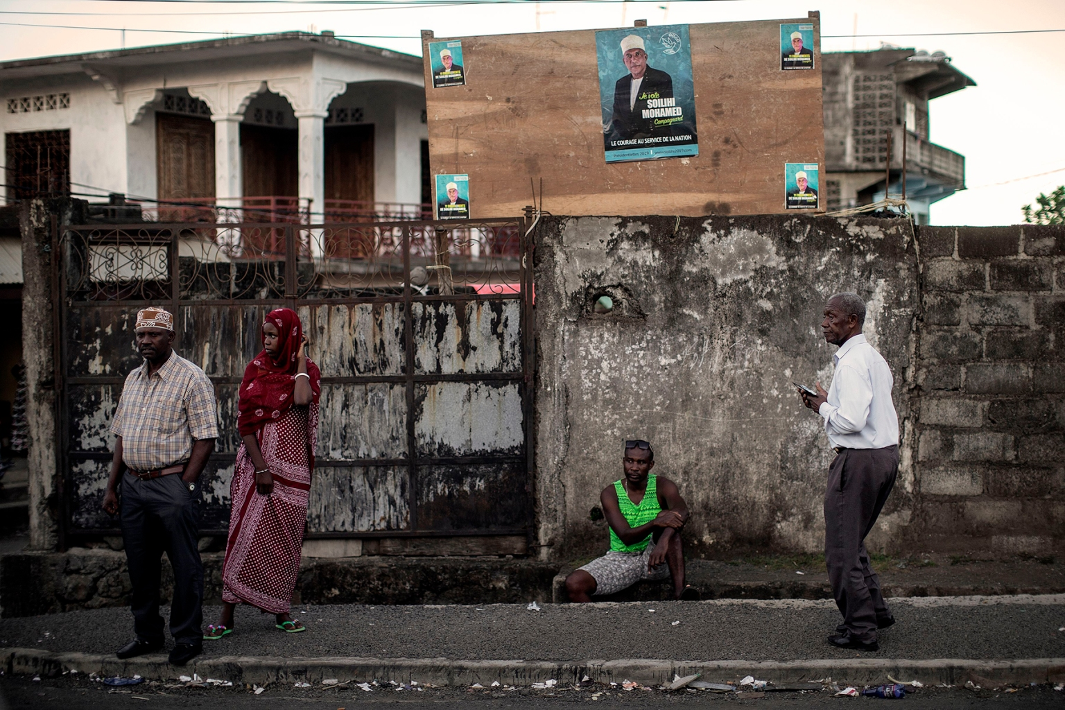 Comoros residents gather at a presidential campaign rally in the village of Domoni on March 20. An arrangement to rotate power among the three islands in the East African archipelago nation helped quell years of discontent and coups in the late 1990s. GIANLUIGI GUERCIA/AFP/Getty Images