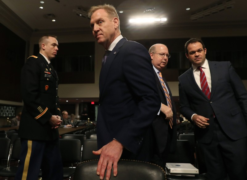 Acting Defense Secretary Patrick Shanahan attends a Senate Armed Services Committee hearing in Washington on March 14. (Mark Wilson/Getty Images)