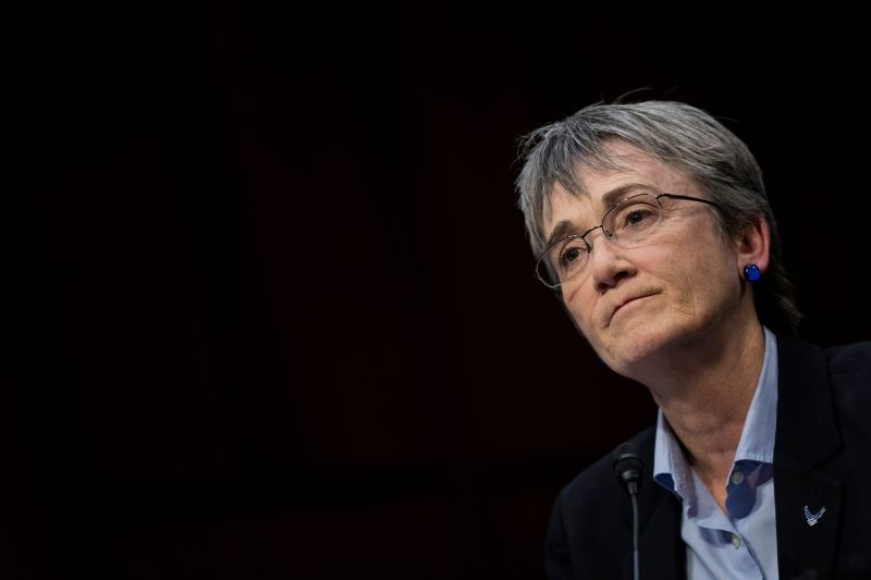 Heather Wilson, the secretary of the U.S. Air Force, testifies during a Senate Judiciary Committee hearing in Washington on Dec. 6, 2017. (Drew Angerer/Getty Images)