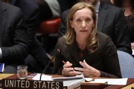 Kelley Currie, the U.S. representative to the United Nations Economic and Social Council, attends a U.N. Security Council meeting in New York City on April 5, 2018. (Atilgan Ozdil/Anadolu Agency/Getty Images)