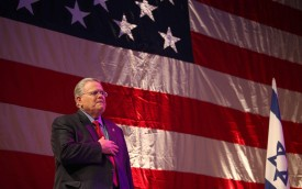 U.S. teleevangelist John Hagee attends a Christian United For Israel summit in Jerusalem, on March 8, 2010. (Gali Tibbon/AFP/Getty Images)