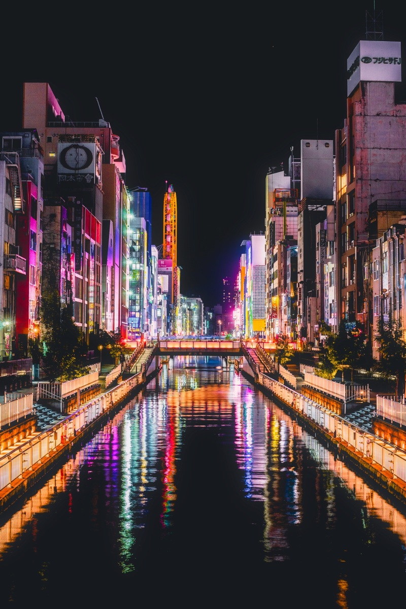 Dontobori's gastronomy, lights and stereoscopic signs make it one of Osaka's most popular areas. PIXABAY