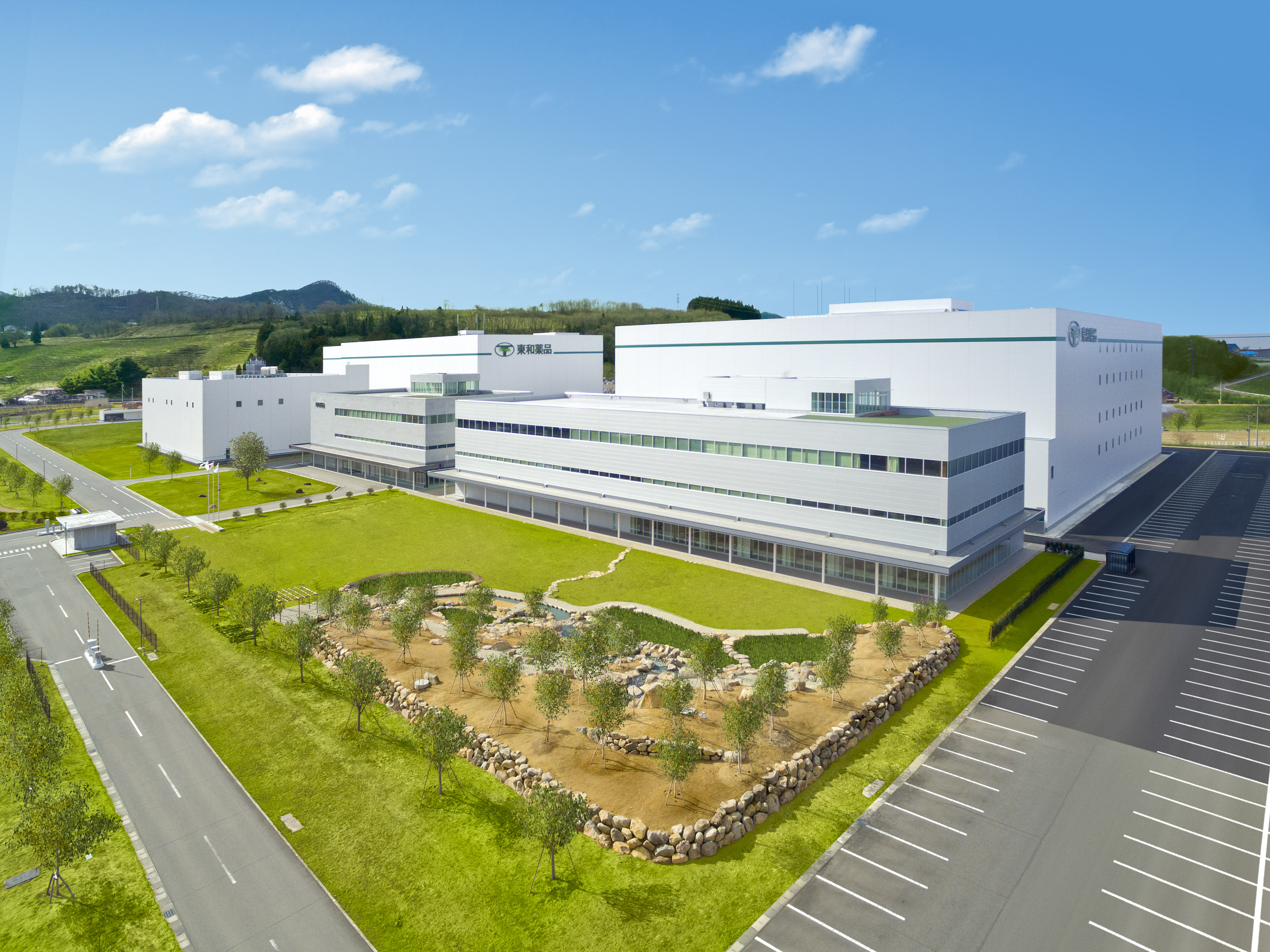 The earthquake-resistant Yamagata Plant is where Towa's injections are manufactured. Photo: Towa Pharmaceutical