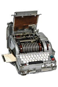 The Fialka encryption system, part of the collection at the KGB Espionage Museum in New York City.