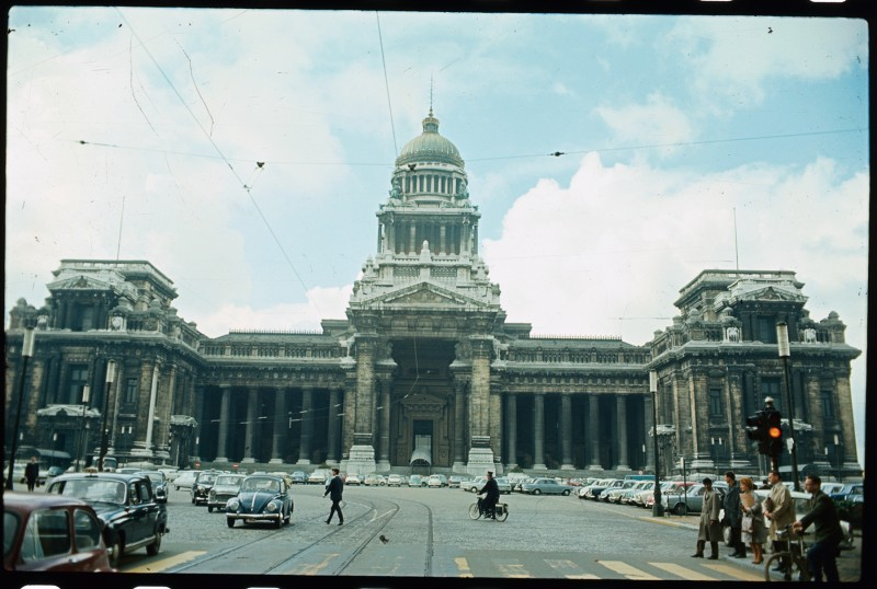 The Palais de Justice in Brussels in 1966. (Bettmann Archive/Getty Images)
