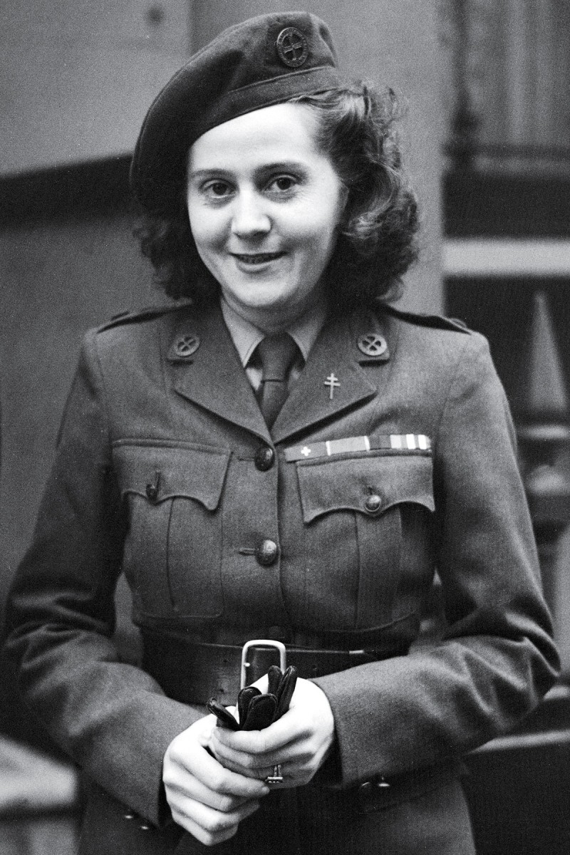 Odette Sansom served as a courier spy in Britain's Special Operations Executive during World War II. (PA Images via Getty Images)