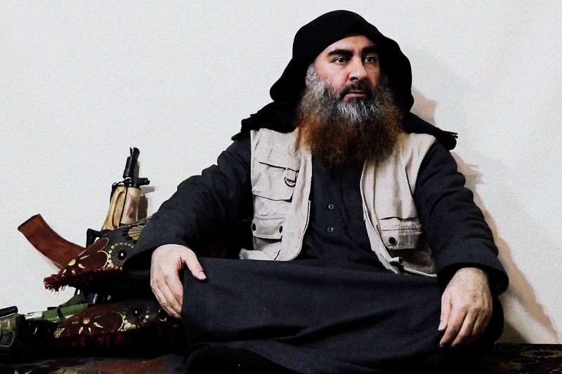 A screen grab from a propaganda video released April 29 purportedly shows Islamic State leader Abu Bakr al-Baghdadi for the first time in five years at an undisclosed location.