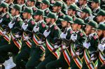 Members of Iran's Islamic Revolutionary Guard Corps march during the annual military parade marking the anniversary of the start of the Iran-Iraq War in Tehran on Sept. 22, 2018.