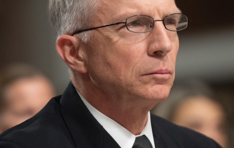 Commander of U.S. Southern Command Craig Faller, testifies during a U.S. Senate Armed Services Committee hearing on Capitol Hill in Washington on Feb. 7. (Saul Loeb/AFP/Getty Images)