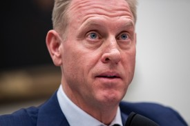 Acting Defense Secretary Patrick Shanahan testifies during a House Armed Services Committee hearing in Washington on March 26. (Drew Angerer/Getty Images)