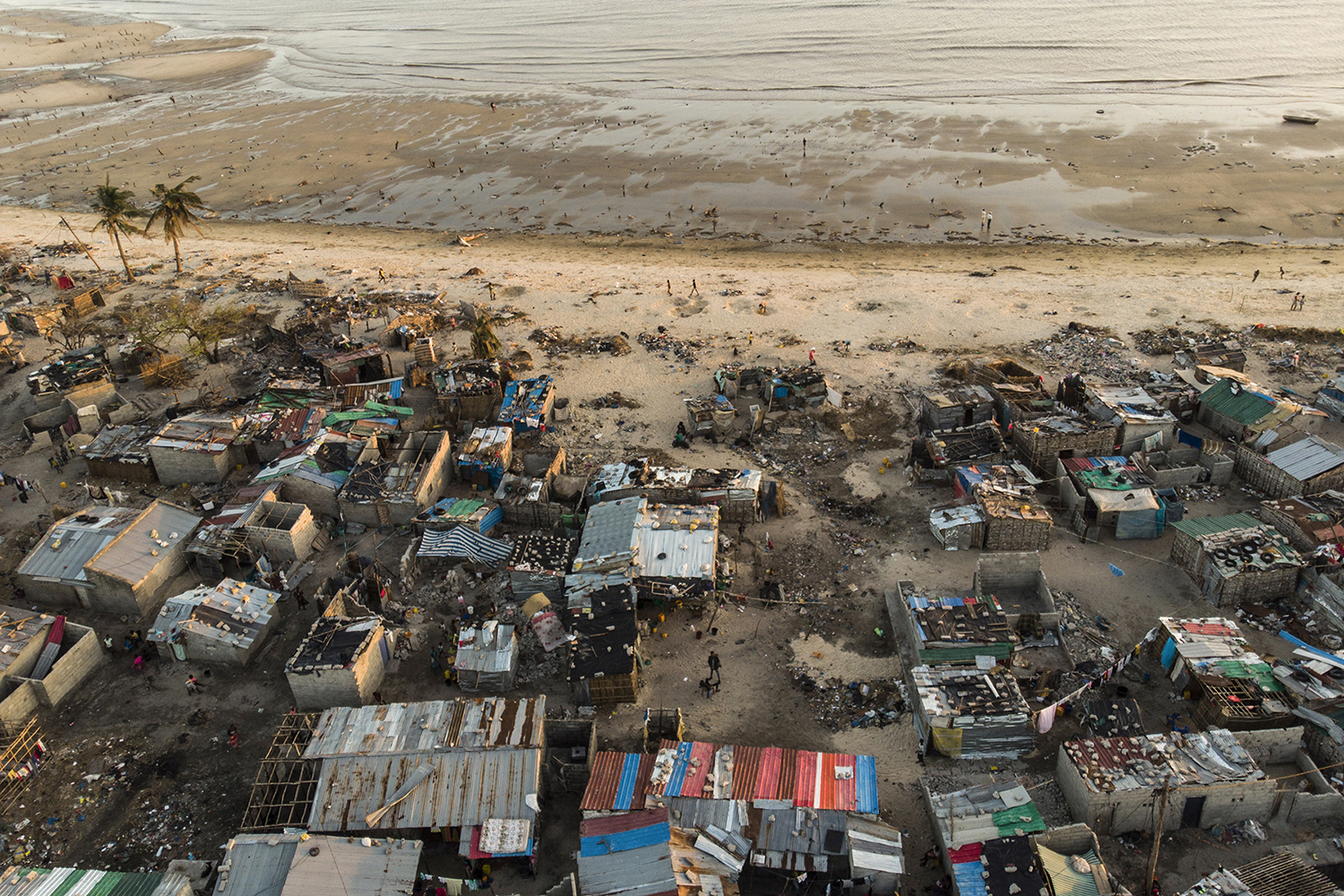 Debris and destroyed buildings left in the wake of Cyclone Idai in the Praia Nova neighbourhood of Beira, Mozambique, on April 1. GUILLEM SARTORIO/AFP/Getty Images
