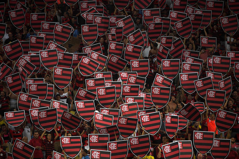 Flamengo fans cheer before the Copa Libertadores soccer match between Brazil's Flamengo and Uruguay's Penarol at Maracana stadium in Rio de Janeiro on April 3. MAURO PIMENTEL/AFP/Getty Images
