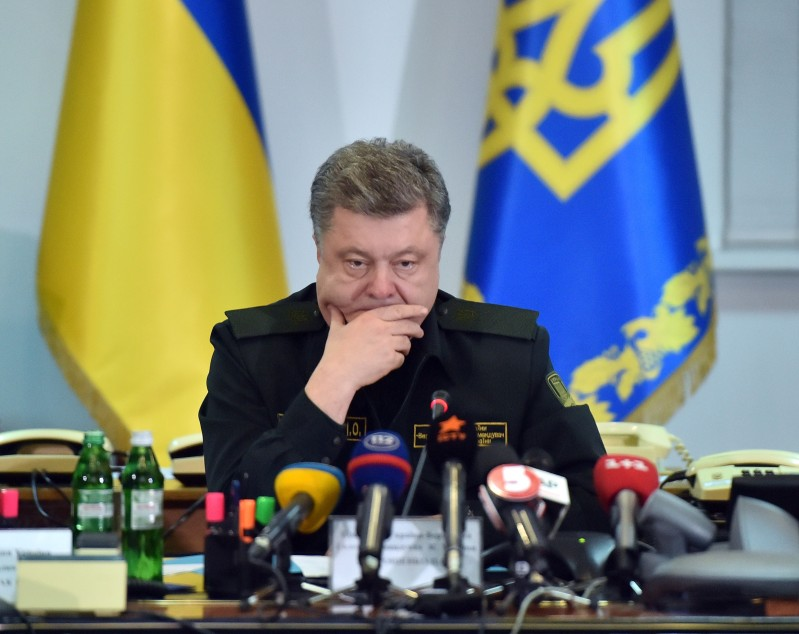 Ukrainian President Petro Poroshenko in Kiev on Feb. 15, 2015. (Sergei Supinsky/AFP/Getty Images)