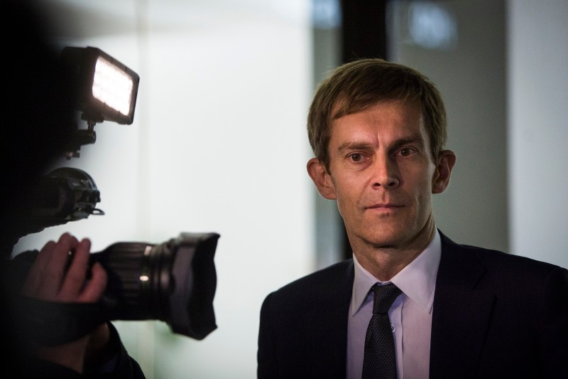 Seumas Milne, the Labour Party's executive director of strategy and communications, leaves the Labour party headquarterson September 20, 2016 in London, England. (Photo by Jack Taylor/Getty Images)