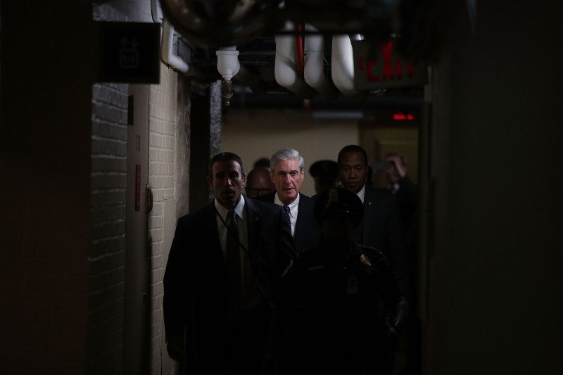 Special counsel Robert Mueller leaves after a closed meeting with members of the Senate Judiciary Committee at the Capitol in Washington on June 21, 2017. (Alex Wong/Getty Images)