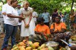 Ivanka Trump visits a cocoa cooperative in Ivory Coast during the Women Entrepreneurs Finance Initiative (We-Fi) West Africa Regional Summit in Abidjan on Apr. 17.