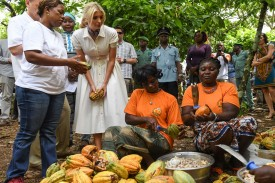 Ivanka Trump visits a cocoa cooperative in Ivory Coast during the Women Entrepreneurs Finance Initiative (We-Fi) West Africa Regional Summit in Abidjan on Apr. 17.