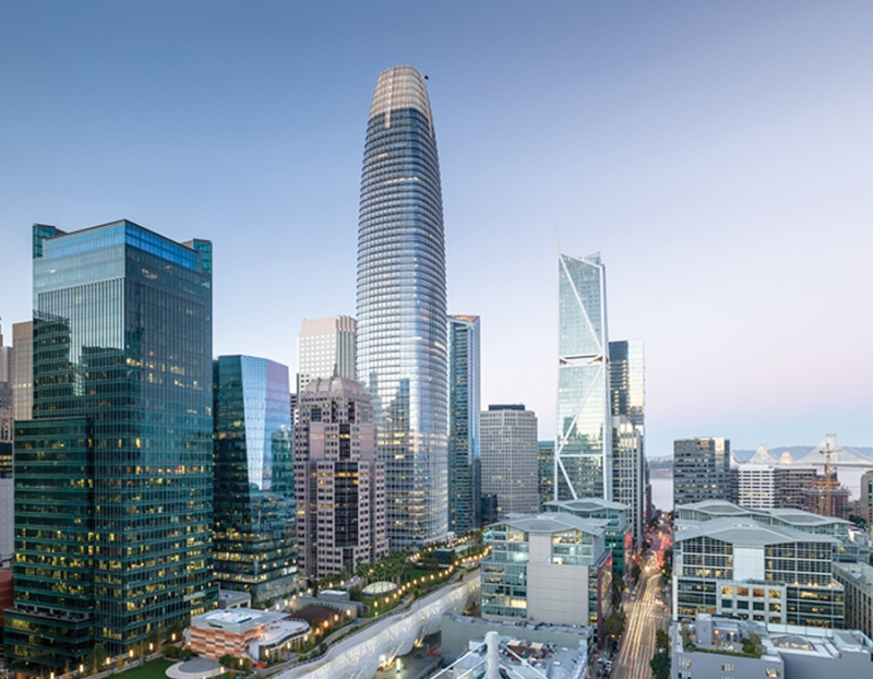 San Francisco's Salesforce Tower is fitted with Schindler's digitized elevators