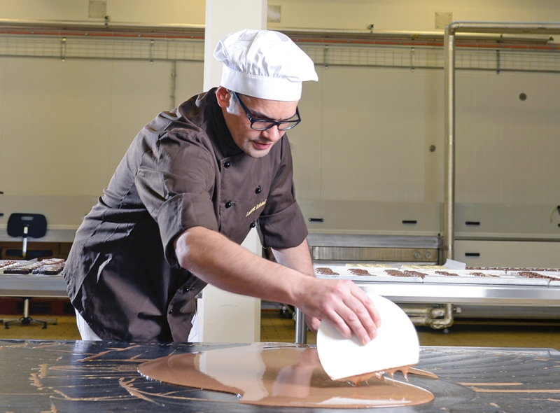 Villar's chocolate manufacturing facility in Fribourg, Switzerland