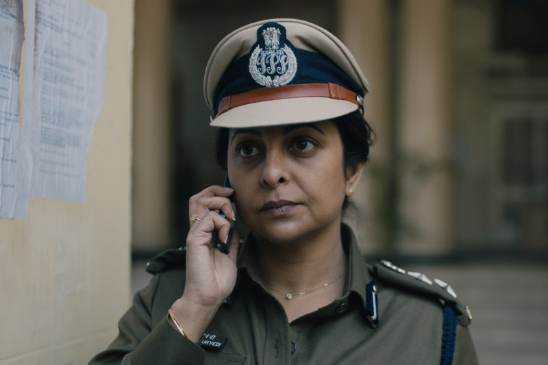 "Actress Shefali Shah in ""Delhi Crime."" (Golden Karavan/Netflix)"