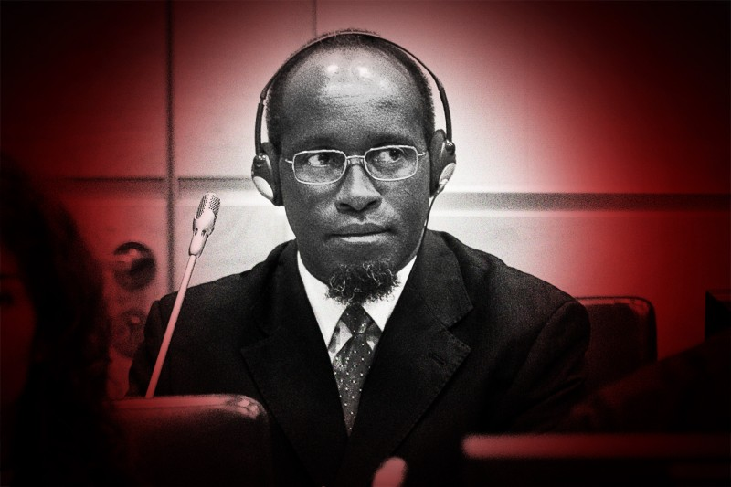 Callixte Mbarushimana during a hearing at The Hague's International Criminal Court on Sept. 15, 2011.