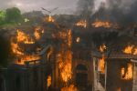Daenerys aims her dragon at King's Landing in HBO's Game of Thrones.