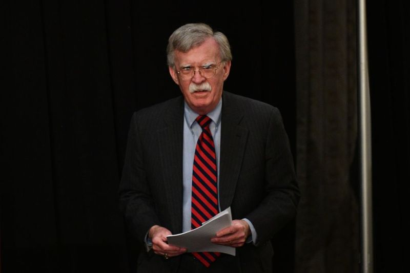 National Security Advisor John Bolton speaks at the United Against Nuclear Iran Summit in New York on Sept. 25, 2018.