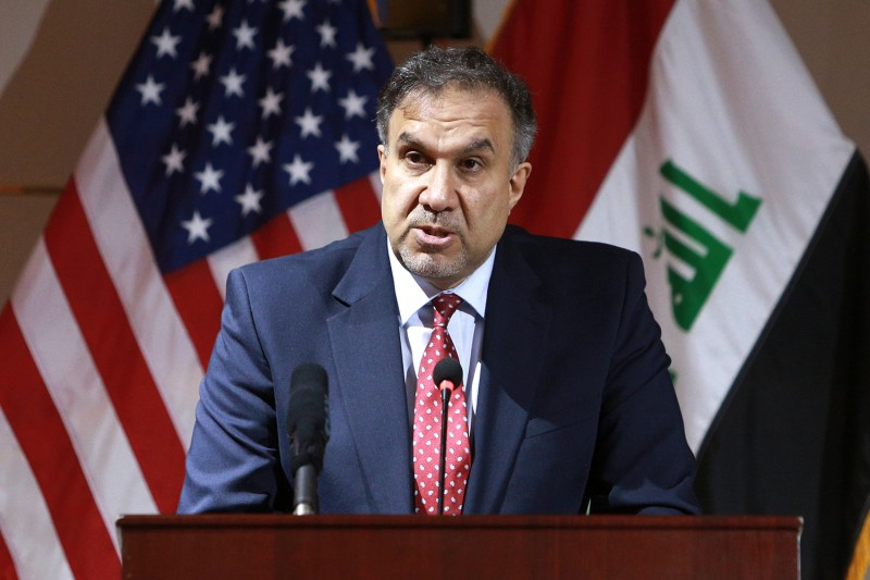Iraq's Minister of Electricity Luay al-Khatteeb speaks at a press conference in Baghdad on Dec. 11, 2018.