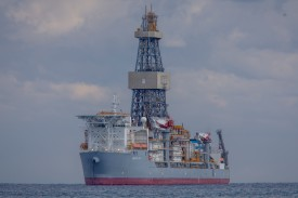The drill ship Ensco DS-7 in Limassol, Cyprus, on Feb. 28.
